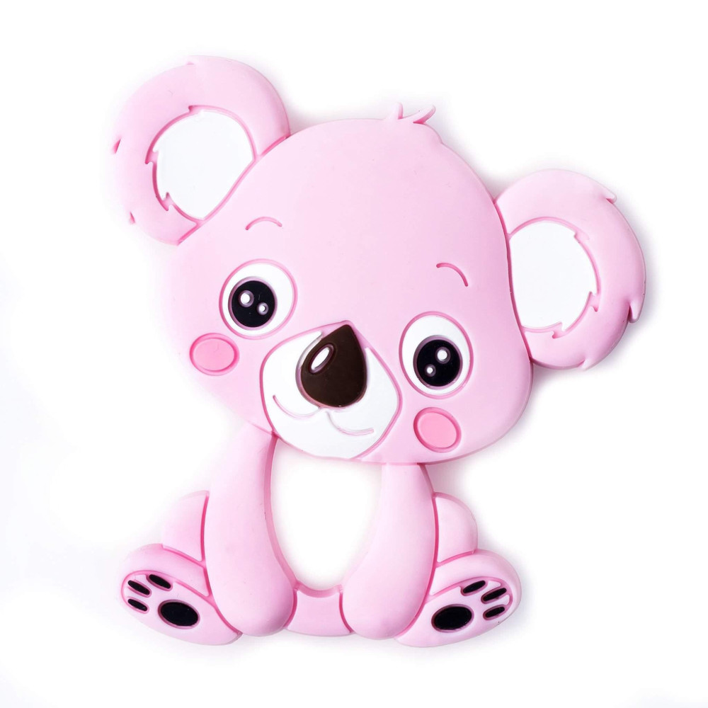 Mordedor para bebés Koala rosa de Mordisquitos