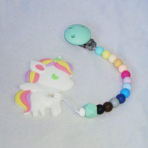 Chupetero rainbow con mordedor Unicornio de Mordisquitos