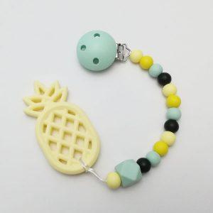 Mordedor de silicona Welcome Spring con Mordedor Piña para bebés de Mordisquitos. Pineapple
