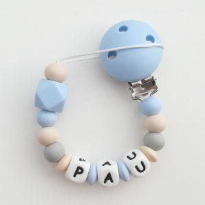 Chupetero personalizado baby blue Mordisquitos